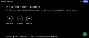 Pagina Web Google Hangouts