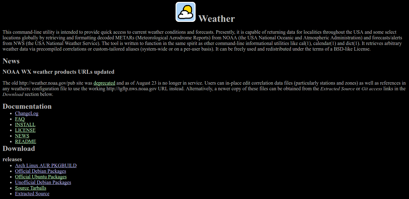 Software weather-util