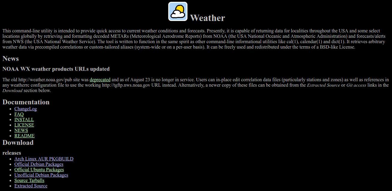 Software weather-util