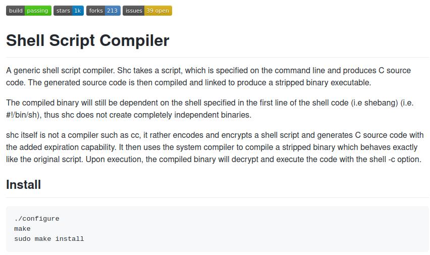 Shell Script Compiler